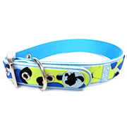 Cute Blue Camouflage Design PVC Dog Collars