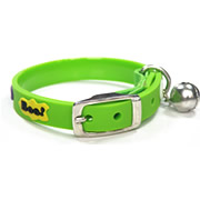 Cute Bell Green Micky Mouse Image Elastic Mental Buckle Cat Collars