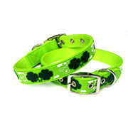 Cute Green Clover Image PVC Dog Collars