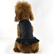 Blank Dog T-Dress - black