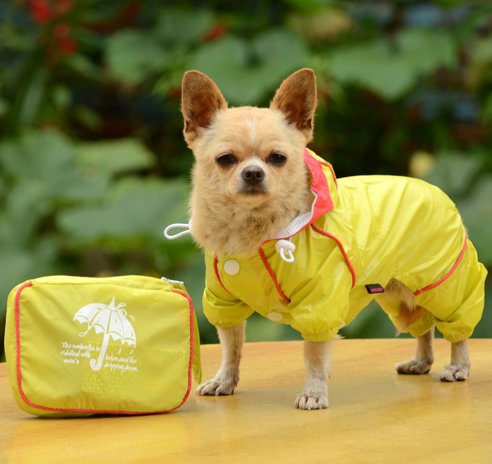 Double Layer Mesh Four Legged Water Proof Dog Raincoat