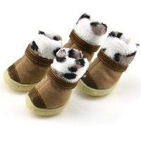 2014 New Stone pattern Dog Snow boots Lining Fleece Red