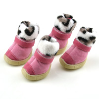 3 in 1 high-cut Suede Dog Snow boots - Lining Sherpa Pink