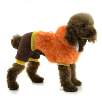 Leopard Casual four-legs winter dog clothes - Deeppink