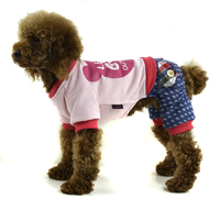 England style Cotton printed four-legged winter dog clothes - Rose