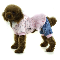 Stripes Crystal velvet winter pet clothing with petals decorated - Rose