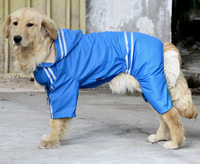 Large Dog Raincoat Waterproof Big Dog Raincoat Reflective Blue