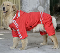 Large Dog Raincoat Waterproof Big Dog Raincoat Reflective Red