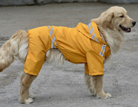 Large Dog Raincoat Waterproof Big Dog Raincoat Reflective Yellow