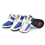 Fashion Zipper Docor Blue Water-proof PU Dog Shoes (4 shoes)