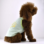 Pentagram embroidered dog tank with shoulder-straps