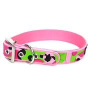 Cute Pink Camouflage Pattern PVC Dog Collars