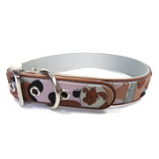 Cute Silver Camouflage Design PVC Dog Collars