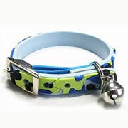 Cute Blue Camouflage Design PVC Cat Collars