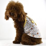 8transparent stripes mini dog tank with shoulder-straps