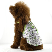 transparent stripes mini dog tank with shoulder-straps