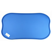Blue Environmental wear-resistant Pure PVC Pet Feeding Pad