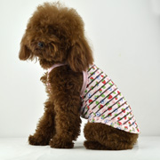 1Transparent stripe pattern dog tank