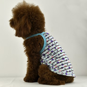 Transparent stripe pattern dog tank