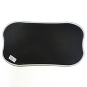 Black Environmental wear-resistant Pure PVC Pet Feeding Pad
