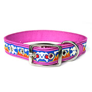 Cute Purple Skull Image PVC Dog Collars
