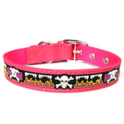 Cute Red Skull Design PVC Dog Collars