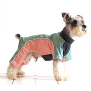 leisure back zipper four-legged dog jacket