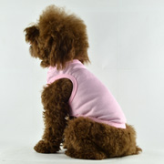Blank Plain Dog Tee Tank Top Pink