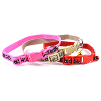 Leopard Print Dog Collars Release Buckles Small Bell