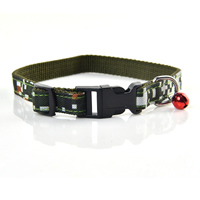 Small Grid Camouflage Pattern Dog Collars Release Buckles Small Bell