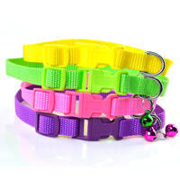 Blank Dog Collars Release Buckles Small Bell