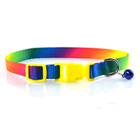 Colorful Nylon Dog Collars Release Buckles Small Bell