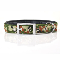 Camouflage Pattern Soft Dog Collars Pin Buckles Soft Foam Lining