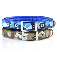 Camouflage Pattern Dog Collars Pin Buckles Soft Foam Lining