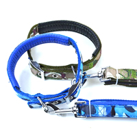 Camouflage Pattern Dog Collars and Dog Leashes Set Soft Foam Lining
