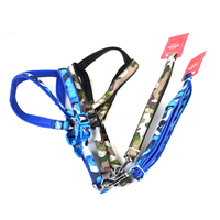 Camouflage Pattern Dog Harnesses and Dog Leashes Set Soft Foam Lining
