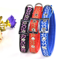 Veins Pattern Dog Collars Pin Buckles Soft Foam Lining