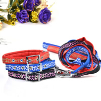 Veins Pattern Dog Collars and Dog Leashes Set Soft Foam Lining